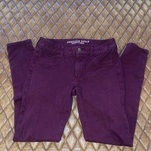 Purple jeggings